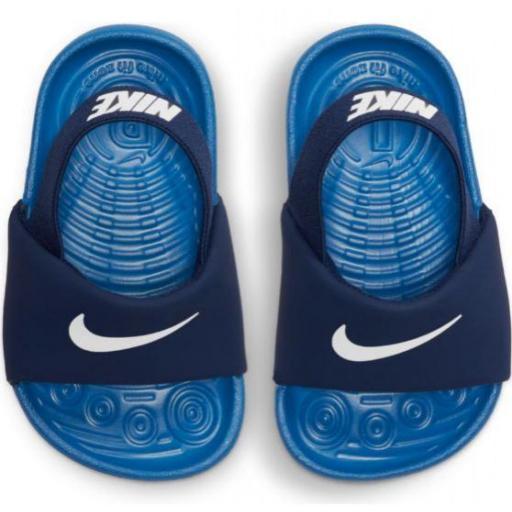 Sandalias Nike Kawa Slide TD niño pequeño azul [1]
