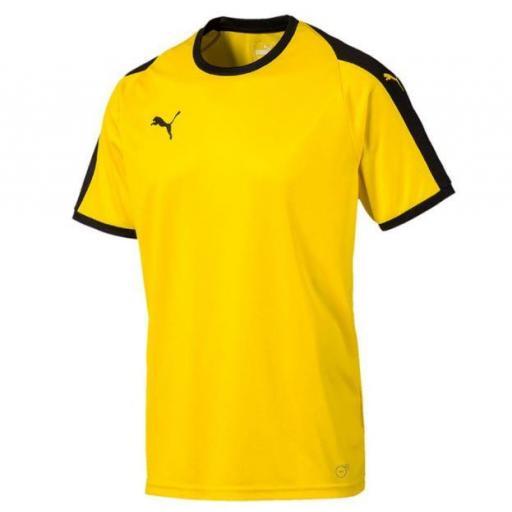 Camiseta Puma LIGA Jersey Amarillo/Negro