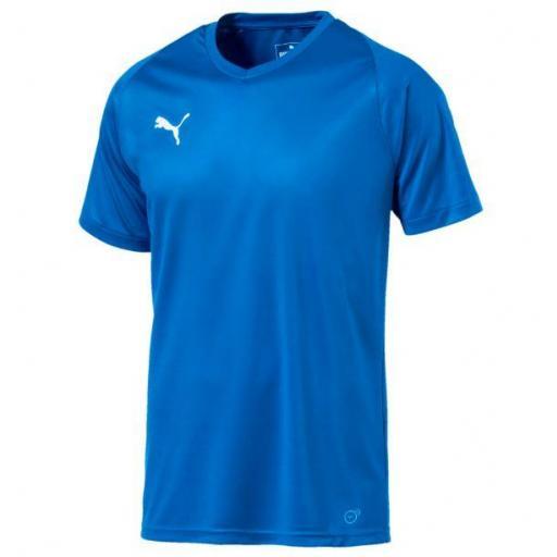 Puma Camiseta LIGA Jersey Core Azul Eléctrico