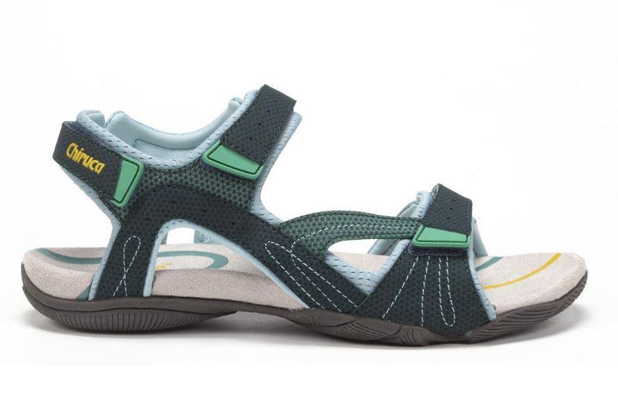 Sandalias Chiruca Cullera 01 Velcro Verde/Azul
