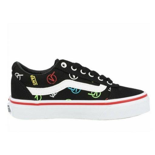 Zapatillas Vans Ward Y Rainbow Logo Estampado Negro/Blanco