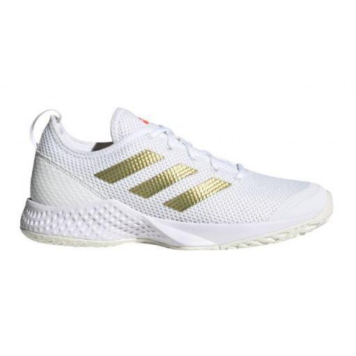 Zapatillas Adidas Court Control W Blanco/Dorado