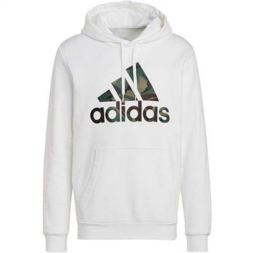 Sudadera con Capucha Adidas Essentials Camo Print Blanca