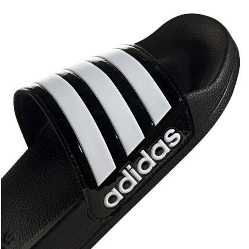 Chanclas Adidas Adilette Shower Negro Brillante/Blanco [3]