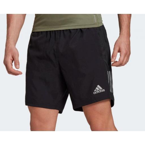 """Pantalón Corto Adidas Own The Run Short 5"""" Negro [1]"""