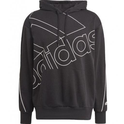 Sudadera con Capucha Adidas Favs Giant Logo Negro/Blanco