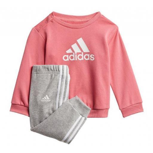 Chándal Adidas Badge Of Sport Niña Pequeña Rosa/Gris