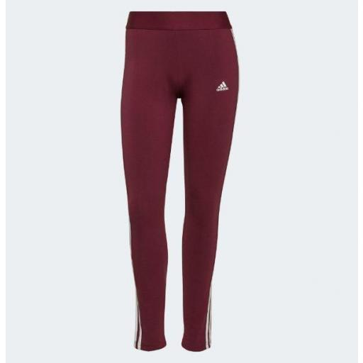 Malla Adidas 3S Loungewear Legging Granate/Burdeos