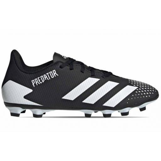 Bota Fútbol Adidas Predator 20.4 FxG Negro/Blanco