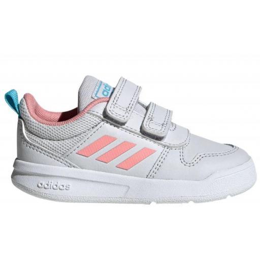Zapatillas Adidas Tensaur I Velcro Niña Gris/Rosa