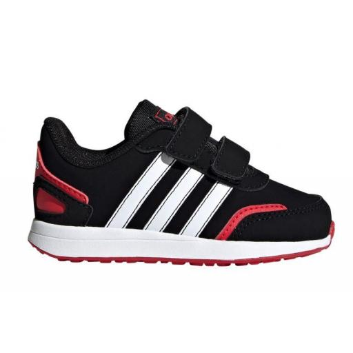 Zapatillas Adidas VS Switch 3 Niño Velcro Negro/Rojo