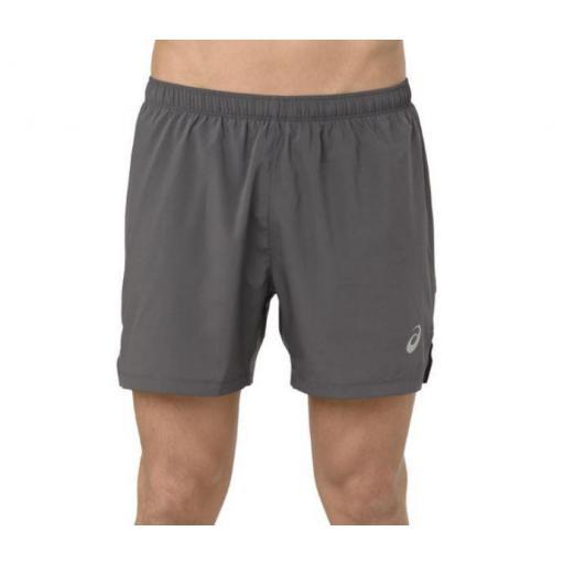Pantalón Corto Asics Silver 5IN Split Short Gris