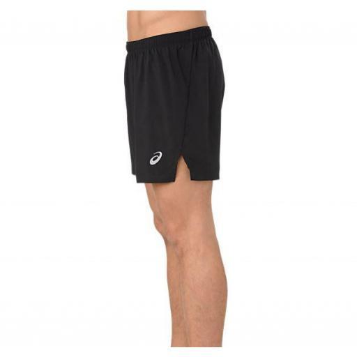 Pantalón Corto Asics Silver 5IN Split Short Negro [1]