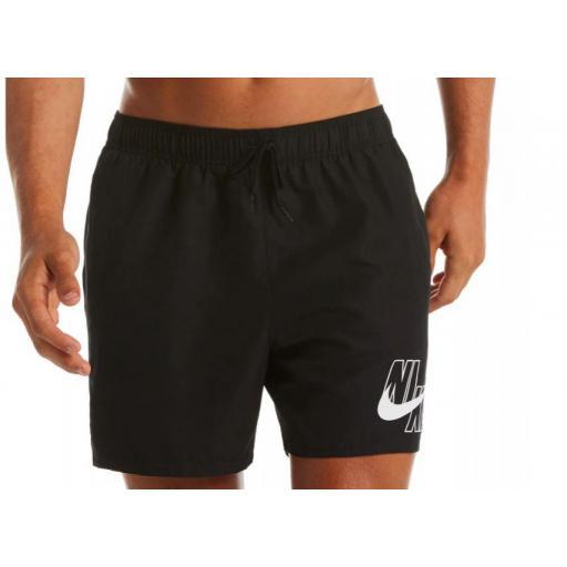 "Bañador Nike Swim Logo Lap 5"" Volley Short Negro"