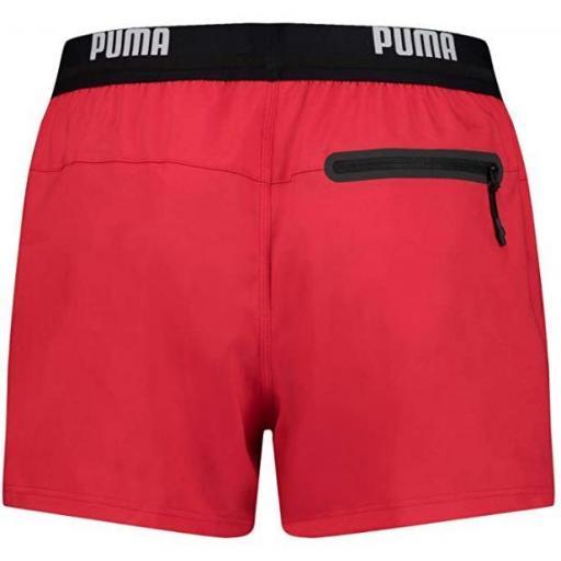Bañador Puma Swim Men Logo Short Rojo [1]