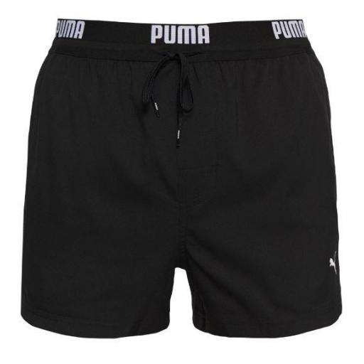 Bañador Puma Swim Men Logo Short Negro