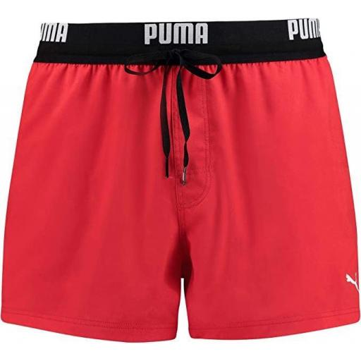 Bañador Puma Swim Men Logo Short Rojo