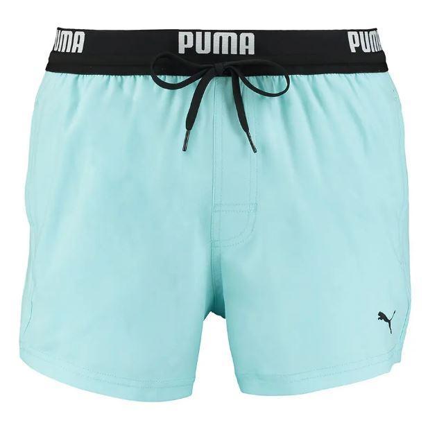Bañador Puma Swim Logo Short Azul Claro