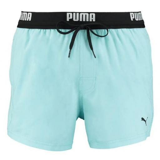 Bañador Puma Swim Logo Short Azul Claro [0]