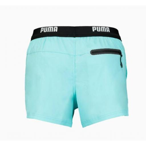 Bañador Puma Swim Logo Short Azul Claro [2]