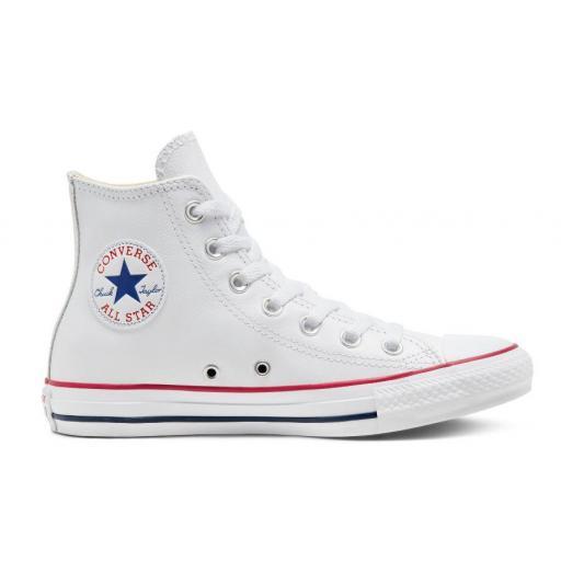 Zapatillas Converse Chuck Taylor All Star HI Piel Blanca
