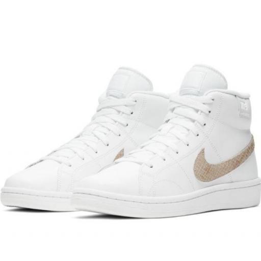 Zapatillas Nike Court Royale 2 MID Blanco/Dorado [1]