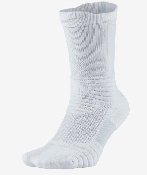 Calcetines Altos Baloncesto Nike Elite Versatility Blanco