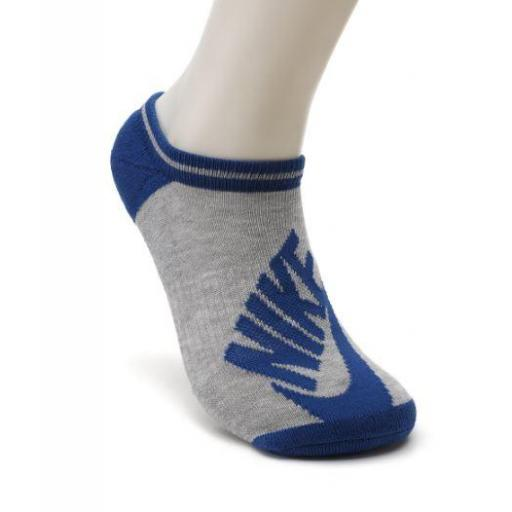 Calcetines Nike Pack 3 Striped No Show Blanco Azul Rosa [2]