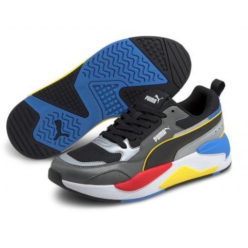 Zapatillas Puma X-Ray 2 Square Gris/Plata/Azul