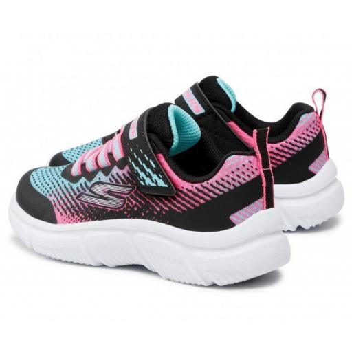 Zapatillas Skechers Go Run 650 Velcro Negro/Rosa/Azul [2]
