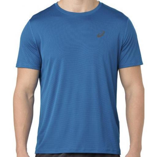 Asics Camiseta Manga Corta Silver SS TOP Azul [1]