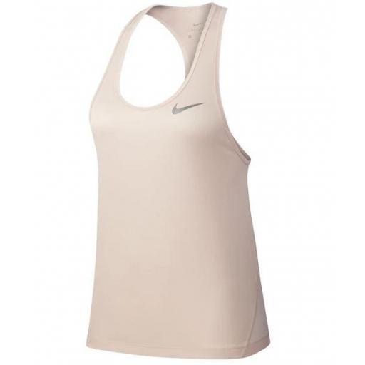 Camiseta Nike Miler Tank Racer Mujer Rosa Claro