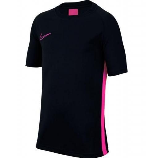 Camiseta Nike Dri-Fit Academy Top SS Negro/Rosa