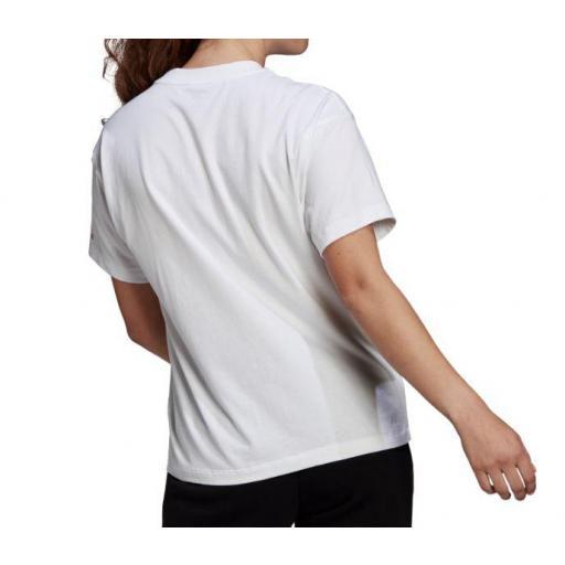 Camiseta Adidas Essentials Giant Logo Tee Blanco/Rosa [2]