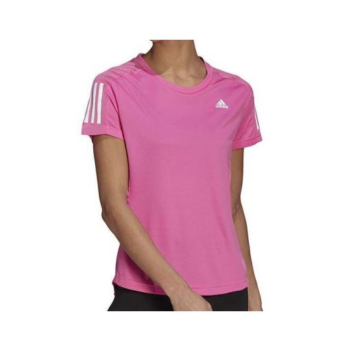 Camiseta Adidas Own The Run Tee Mujer Rosa [1]