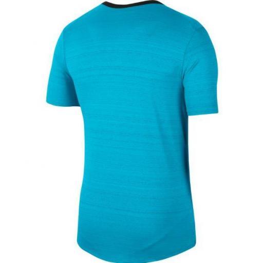 Camiseta Nike Dri-Fit Miler Top Azul Claro [2]