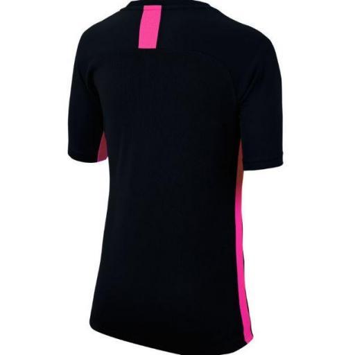 Camiseta Nike Dri-Fit Academy Top SS Negro/Rosa [1]
