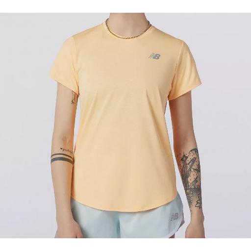Camiseta New Balance Accelerate SS Mujer Naranja Mango