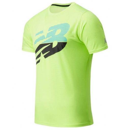 Camiseta New Balance Printed Accelerate Verde Lima