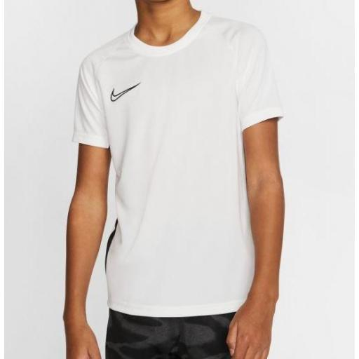 Camiseta Nike Dri-Fit Academy Top SS Niños Blanca [1]