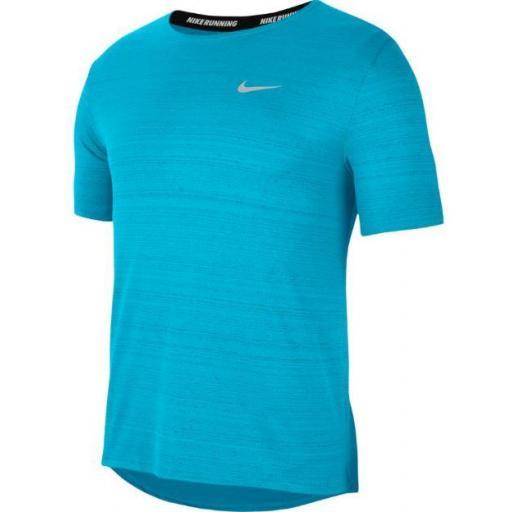 Camiseta Nike Dri-Fit Miler Top Azul Claro