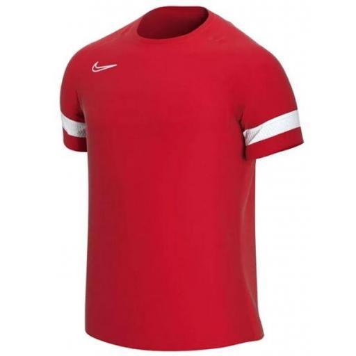 Camiseta Nike Dri-FIT Academy 21 Top Rojo/Blanco