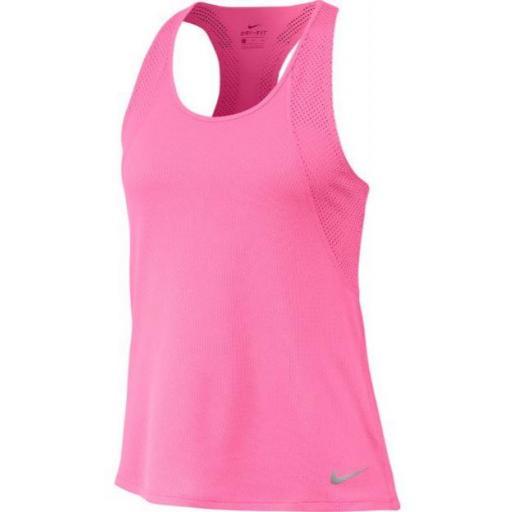 Nike Camiseta Tirantes Mujer Run Tank Rosa
