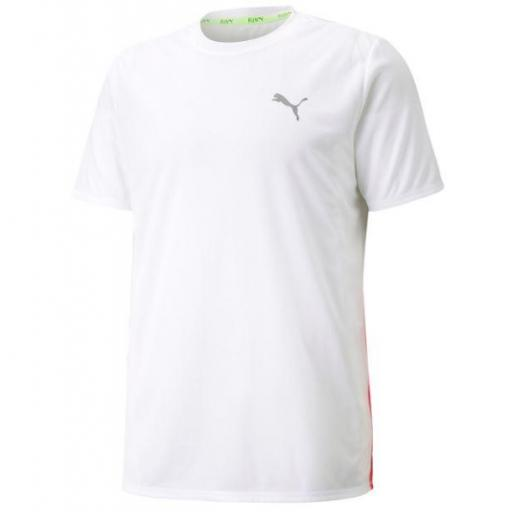 Camiseta Puma Run Favorite SS Tee Blanca