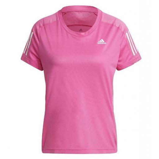Camiseta Adidas Own The Run Tee Mujer Rosa [0]