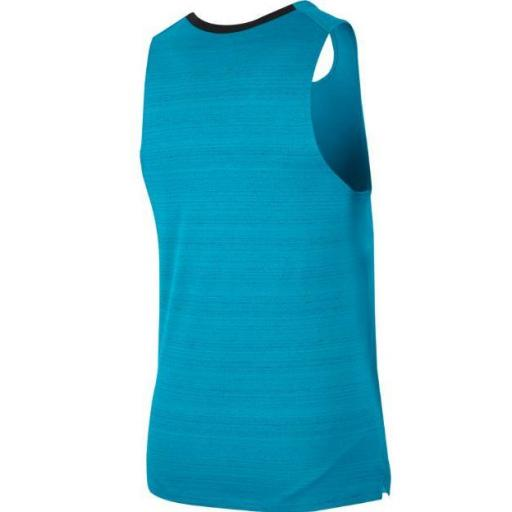 Camiseta Tirantes Nike Dri-FIT Miler Tank Azul Claro [2]