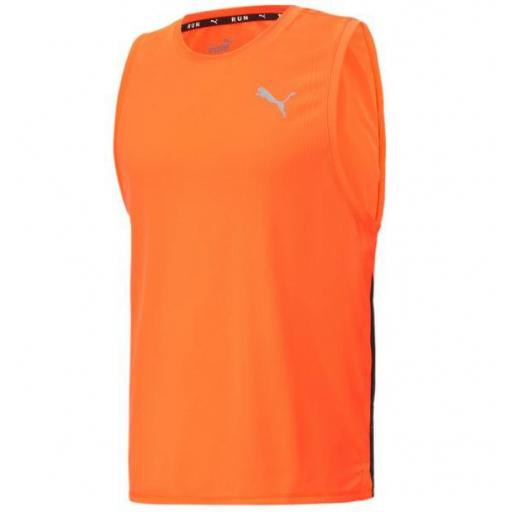 Camiseta sin Mangas Puma Run Fav Singlet Naranja