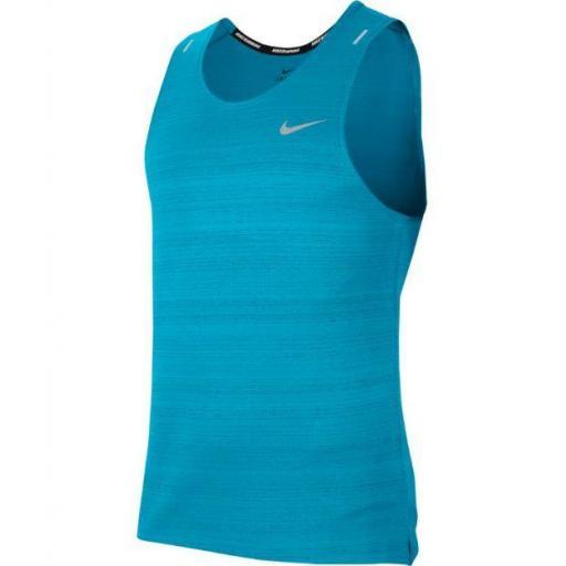 Camiseta Tirantes Nike Dri-FIT Miler Tank Azul Claro