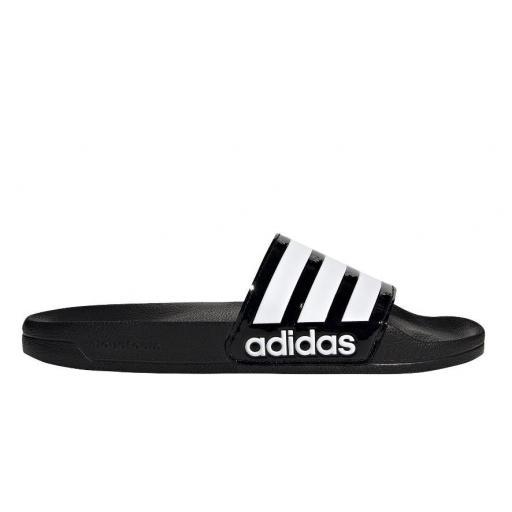 Chanclas Adidas Adilette Shower Negro Brillante/Blanco [2]