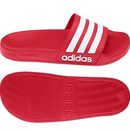 Chanclas Adidas Adilette Shower Rojo Scarlet/Blanco
